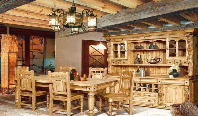 Мебель для гостиной и столовой на даче