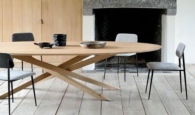 Овальные обеденные столы