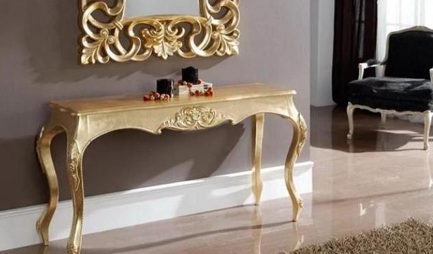 деревянный консольный стол