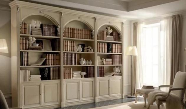 деревянный шкаф для книг
